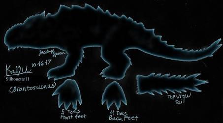 Kaiju Silhouette 2 B by JacobSpencerKaiju79