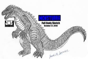 MONSTURRA-Full Body Sketch-October 21, 2018 by JacobSpencerKaiju79