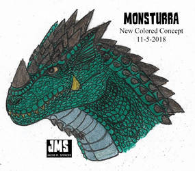 Monsturra- New Colored Concept-11-5-18 by JacobSpencerKaiju79
