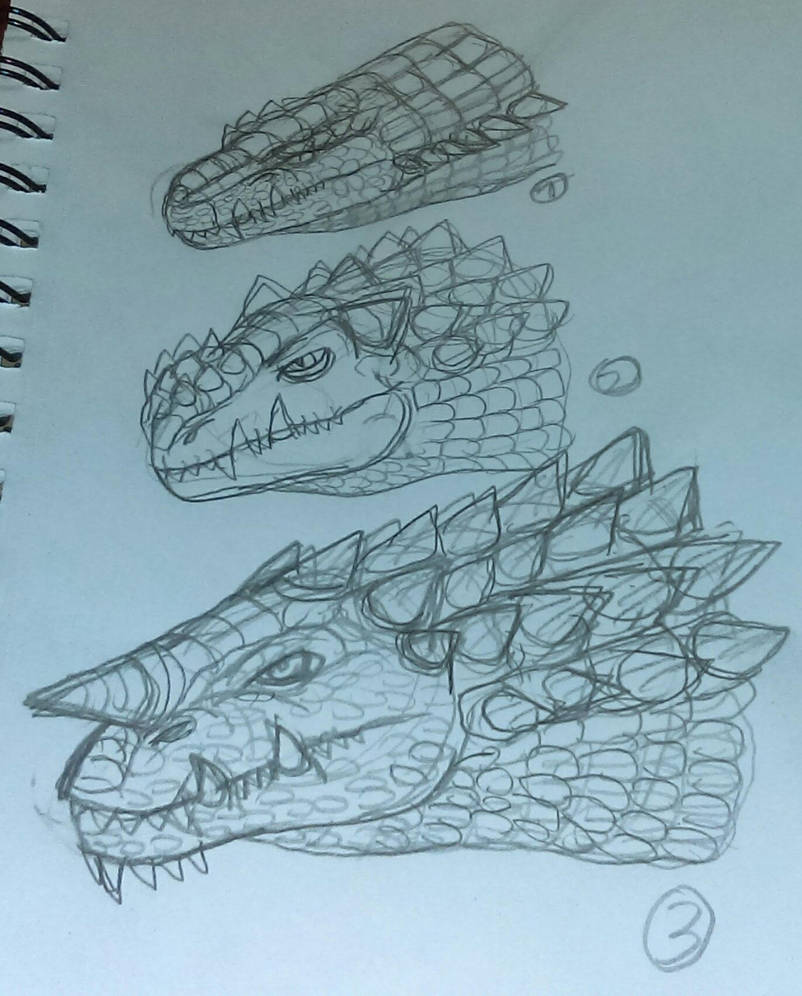 More New Kaiju Pencil Sketches 11-13-2018 by JacobSpencerKaiju79