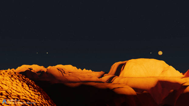 TRAPPIST-1 b by akikun-cgi