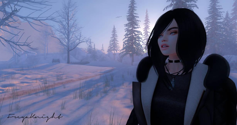Snow Sunrise by FreyaKnight