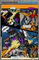 G1 Dinobots vs Trypticon comic page by BDixonarts