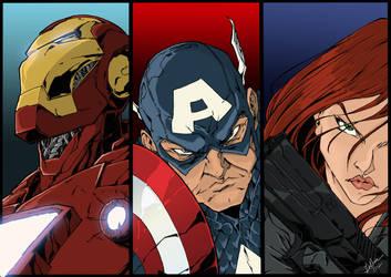 Avengers coloring by BDixonarts