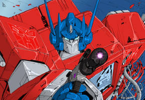 Optimus And Megs Colors Low by BDixonarts
