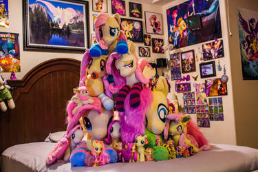 Fluttershy Collection Plushie Pile! by FluttershyHiker