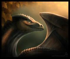 Autumn dragon by MoaWallin