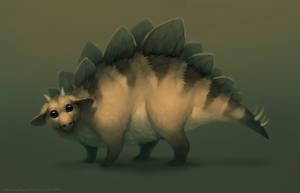 Mammalian stegosaurus by MoaWallin