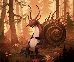 Four eyed snail by MoaWallin