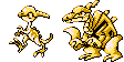 Fusolo and Paralysus Sprites RB Style by IceyPinkLemons