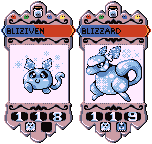 Bliziven and Blizzard by IceyPinkLemons