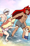 Beach Fun by CalimonGraal