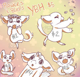 BB Flowers and Bleps YCH - $5 [OPEN] by CalimonGraal