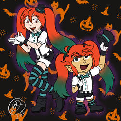 Crossover ~ Halloween Dance by ChibiKirbylover