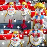 Sailor Moon Papercraft by societyisfucked