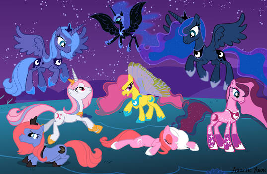 Princess Luna Relations by AquaticNeon