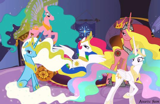 Princess Celestia G1 Relations by AquaticNeon