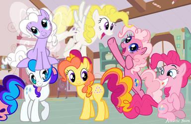 Pinkie Pie Relations by AquaticNeon