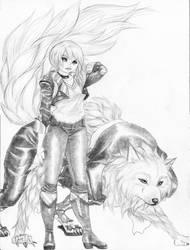 Werewolf Female by BlueSaved