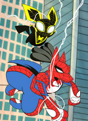 Spider-Cario and Spider-Chu Team Up! by Devvcario