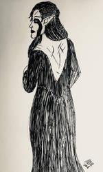 Zijana Vrenalir in a backless dress by holmesian1891