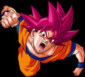 Super Saiyan God Goku Alt Palette by LordKizashi
