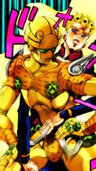 Giorno Giovanna/Gold Experience Mobile Wallpaper by LordKizashi