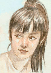 Watercolour Girl by Spencey