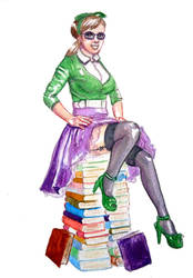 Librarian (Small Illustration + Video!) by Spencey