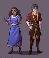 Zuko and Katara by Scarlet2Summer