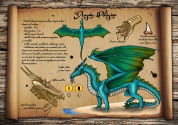 Dragon Pelagico - Pelagic Dragon Reference Sheet by Kradath