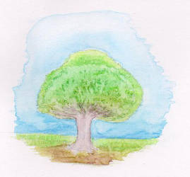 Lone tree by Kradath