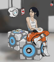 Portal 2 - Apple by rheill