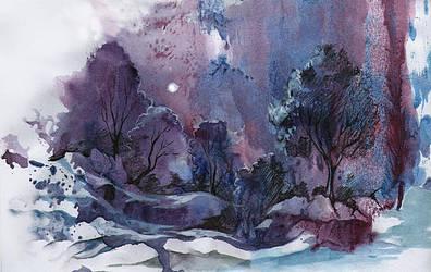 winter evening by kosharik69