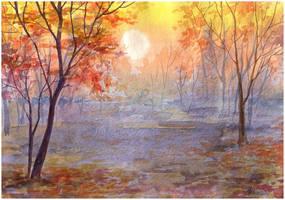 Autumn Sunset by kosharik69