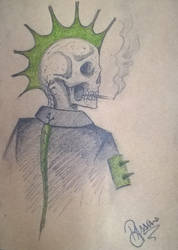 A punk skull! by Decomposeart