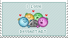 I Love deviantART Stamp by ViciousCherry