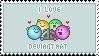 I Love deviantART Stamp by ViciousCherry