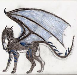 Dragon hound Raven by RavenArya