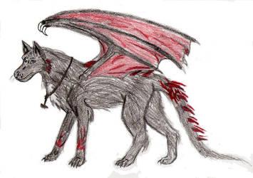 Dragon hound Diablo by RavenArya