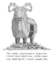 The Wicker Ram by Mondrem