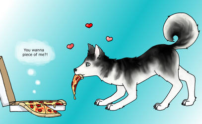 Puppy, Pizza, and Pun by OdieFarber