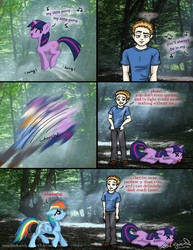 Twilight vs My Little Pony by OdieFarber