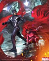 Black Bolt and Medusa by Denstarsk8