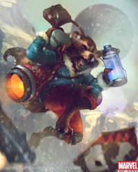 Rocket Raccoon Evo1 by Denstarsk8