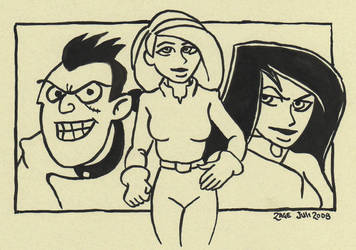 KP, Drakken and Shego by Zage56