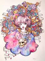 Galactic skull by Doringota