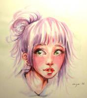 Blush (practice with watercolour) by Doringota