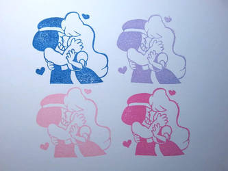 Ruby and Sapphire - Steven Universe - Stamp by Puddincakes