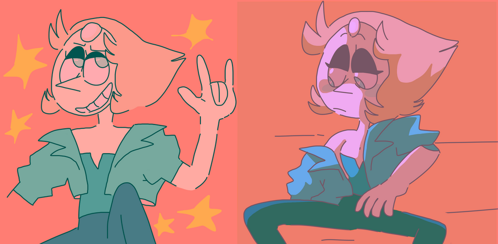 uh the last time i drew pearl was back when the last one out of beach city came out bc i loved her outfit now shes permanently kinda hot also i love how its confirmed that pearl has affairs with hu...